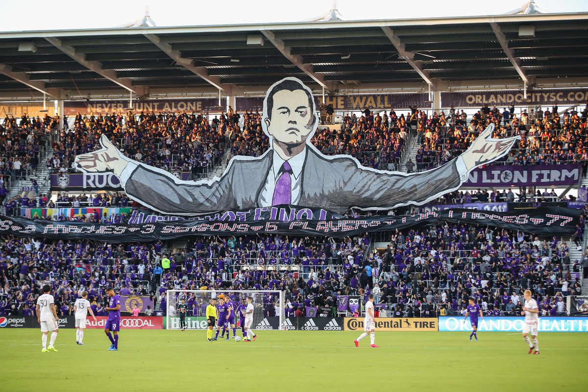 A general view of Orlando City Stadium during the first half between Orlando City and Real Salt Lake.