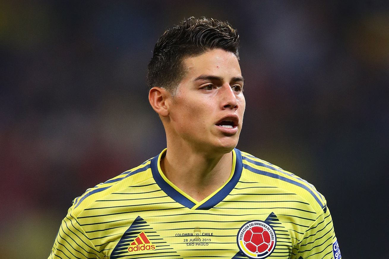 Napoli football director in Madrid trying to complete deal for James Rodriguez