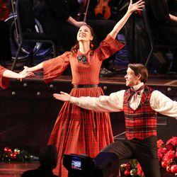 Dancers perform as the Mormon Tabernacle Choir sings during their Christmas concert in Salt Lake City on Thursday, Dec. 14, 2017.
