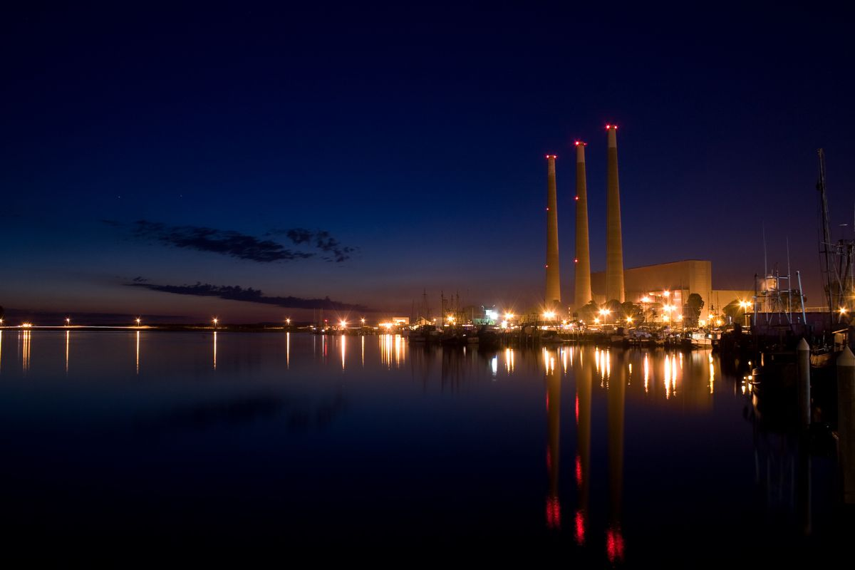 Dynegy natural gas power plant, in Morro Bay.