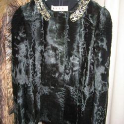 Marni black Chinese lamb embroidered neckline jacket, $7,660