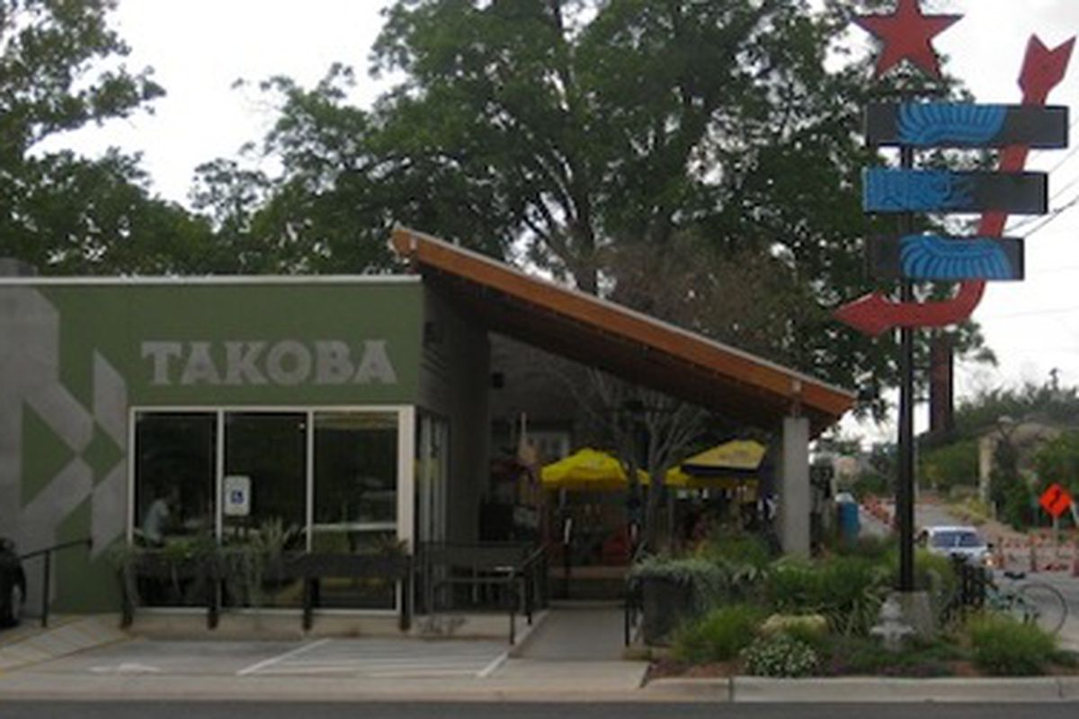 Takoba in Austin and their lovely patio.