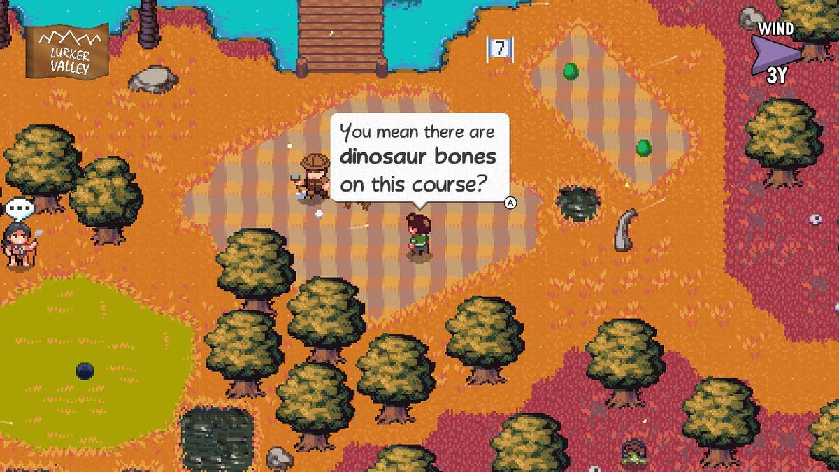 Golf Story - dinosaur bones