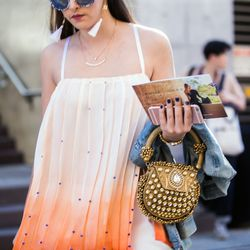 Flowy tops and regal-looking accessories at Fashion Week Australia.