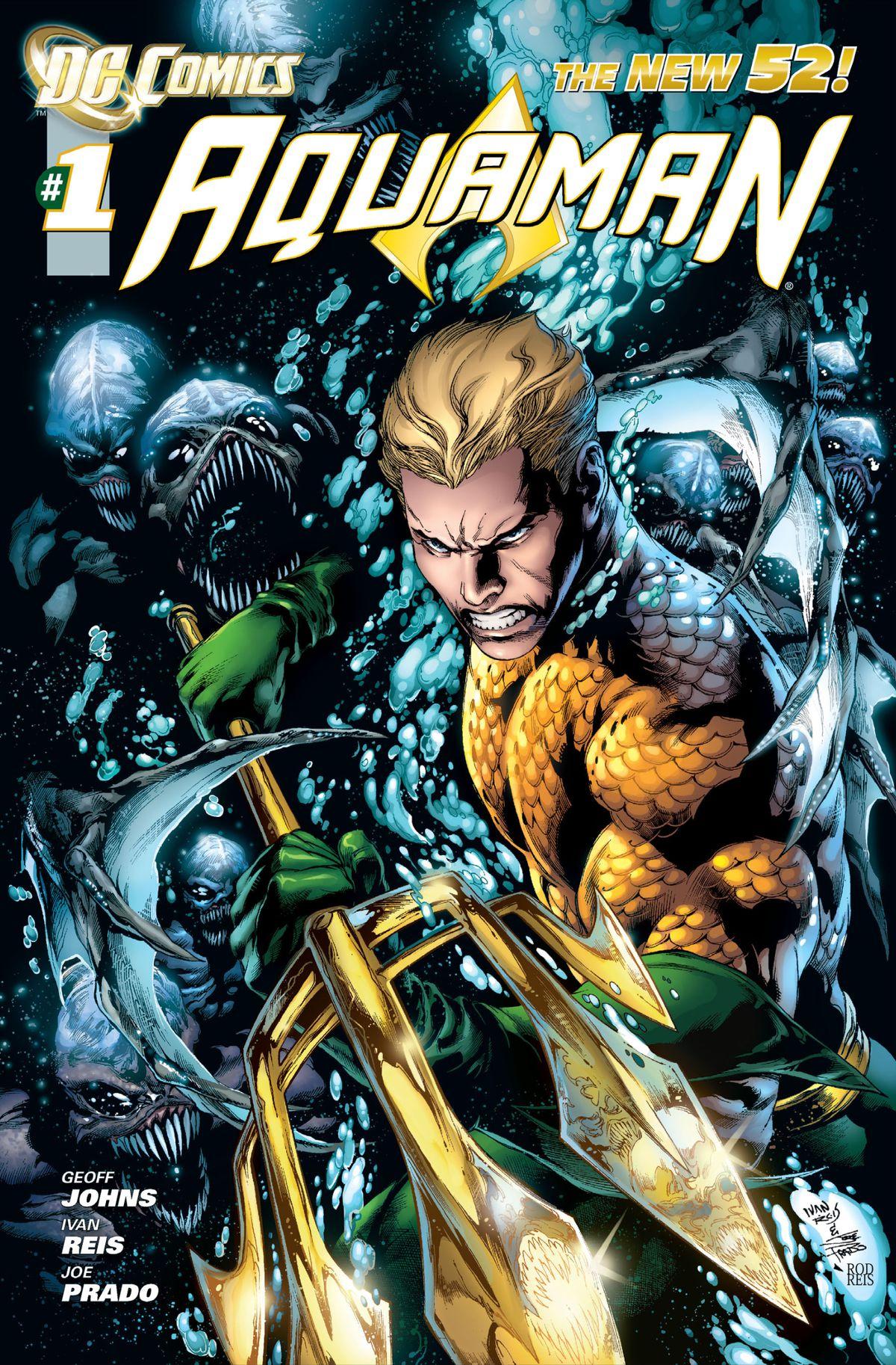 The cover of Aquaman #1, DC Comics (2011).