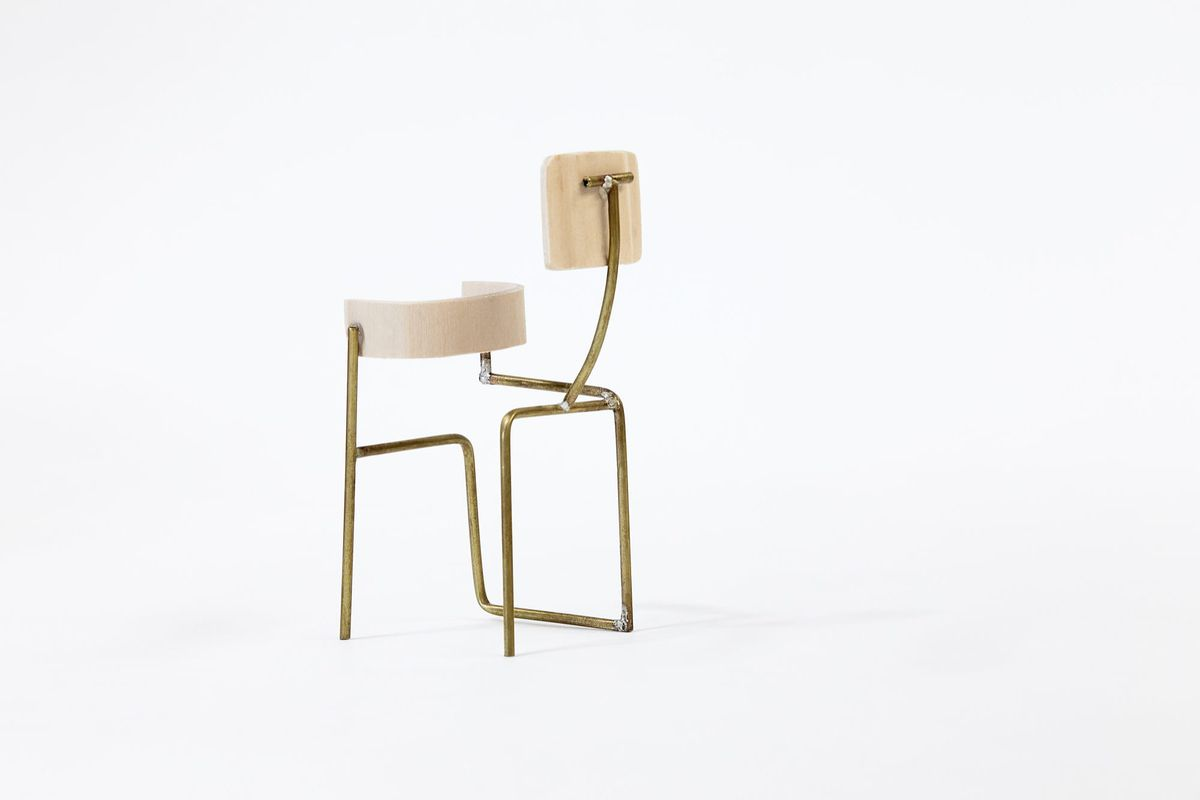 Chair with wonky back
