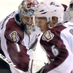 Varlamov Looks For Puck