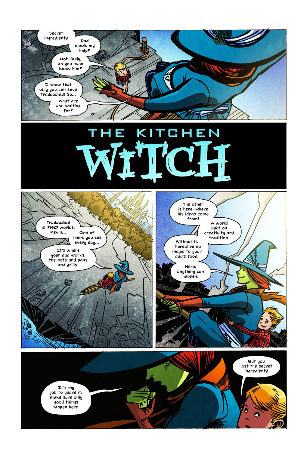 A page from The Kitchen Witch, 215 Ink (2021).