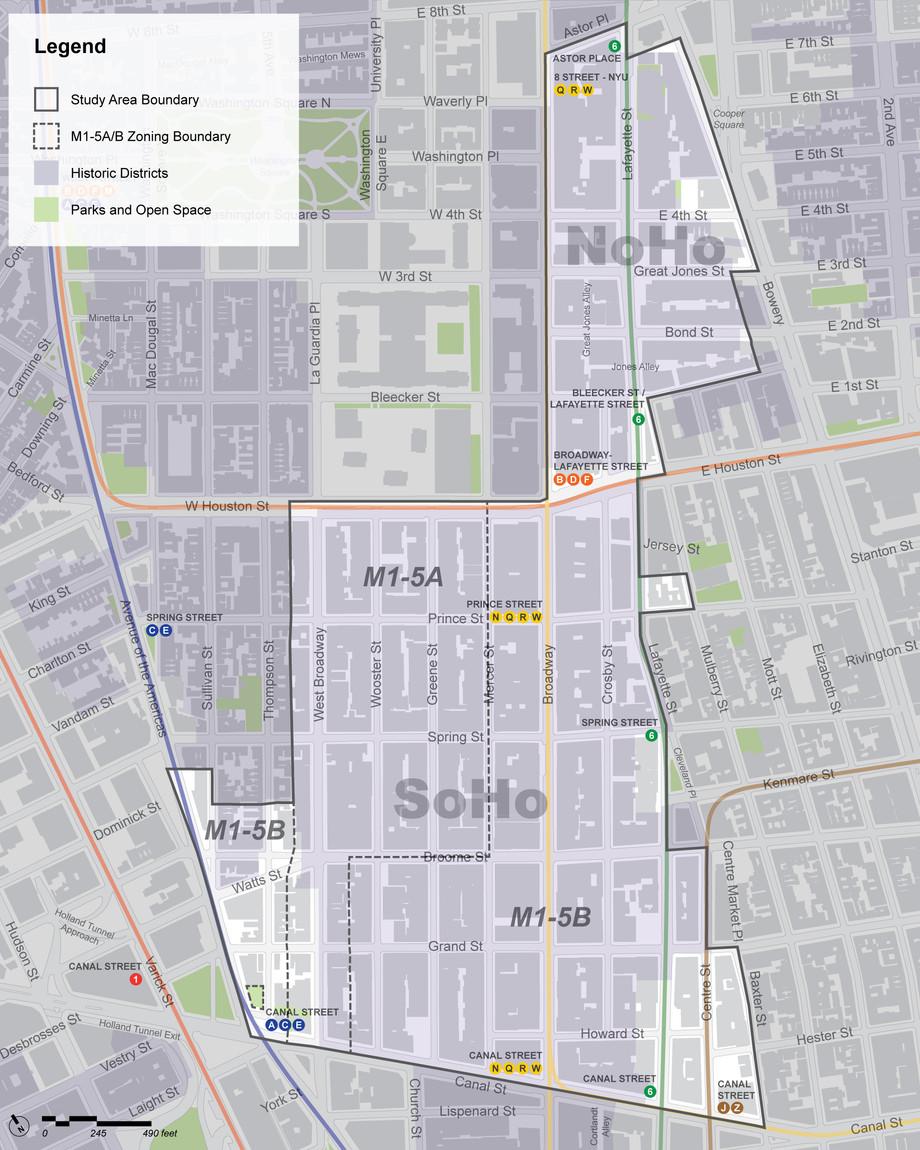Soho Rezoning Study Map