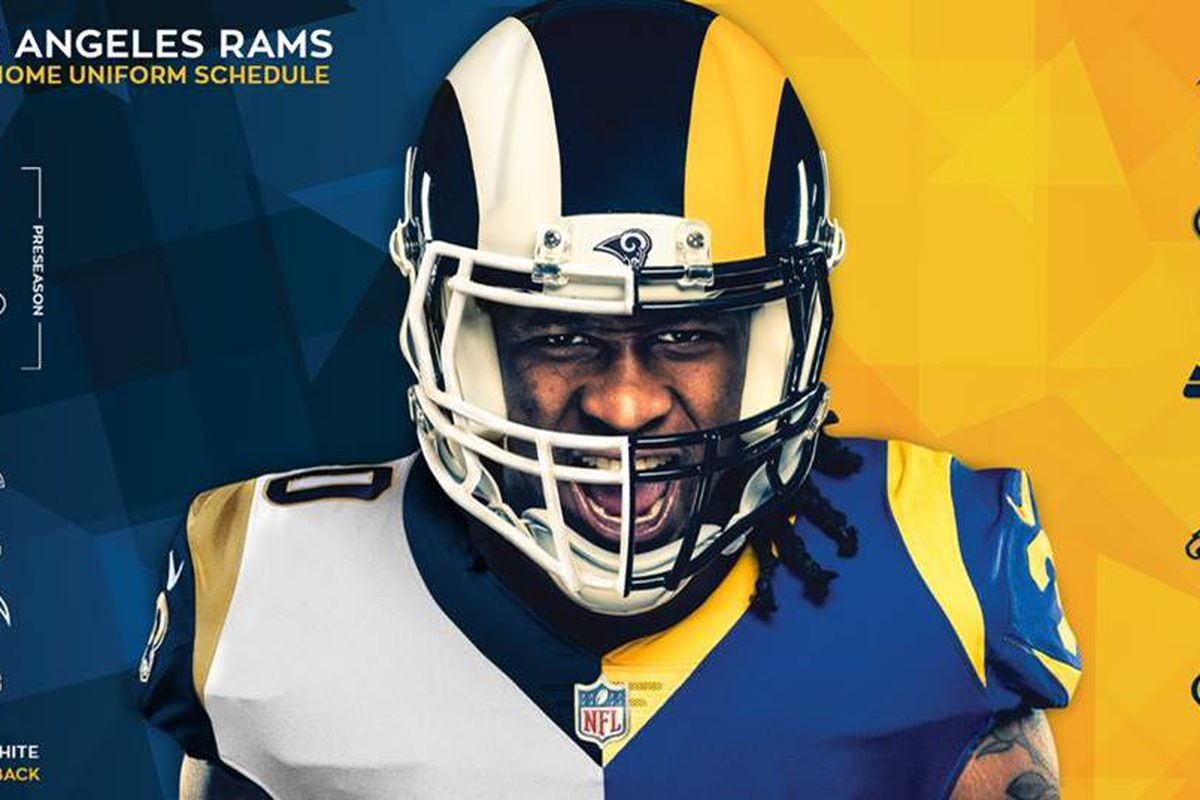 best loved fdce4 6869b LA Rams to wear 4,228,196 uniform combinations in 2018 ...