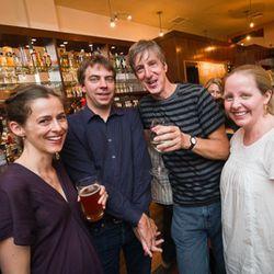 Amanda Hesser and Merill Stubbs of Food 52 with Lockhart Steele of Eater and judge Andy Borowitz.