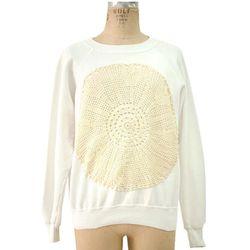 "<b>Dear</b> Vintage Remade Sweat Top with Antique Lace, <a ref=""http://shop.dearrivington.com/atelier/sweatshirts/d0712to25.html#"">$195</a> at Dear:Rivington"