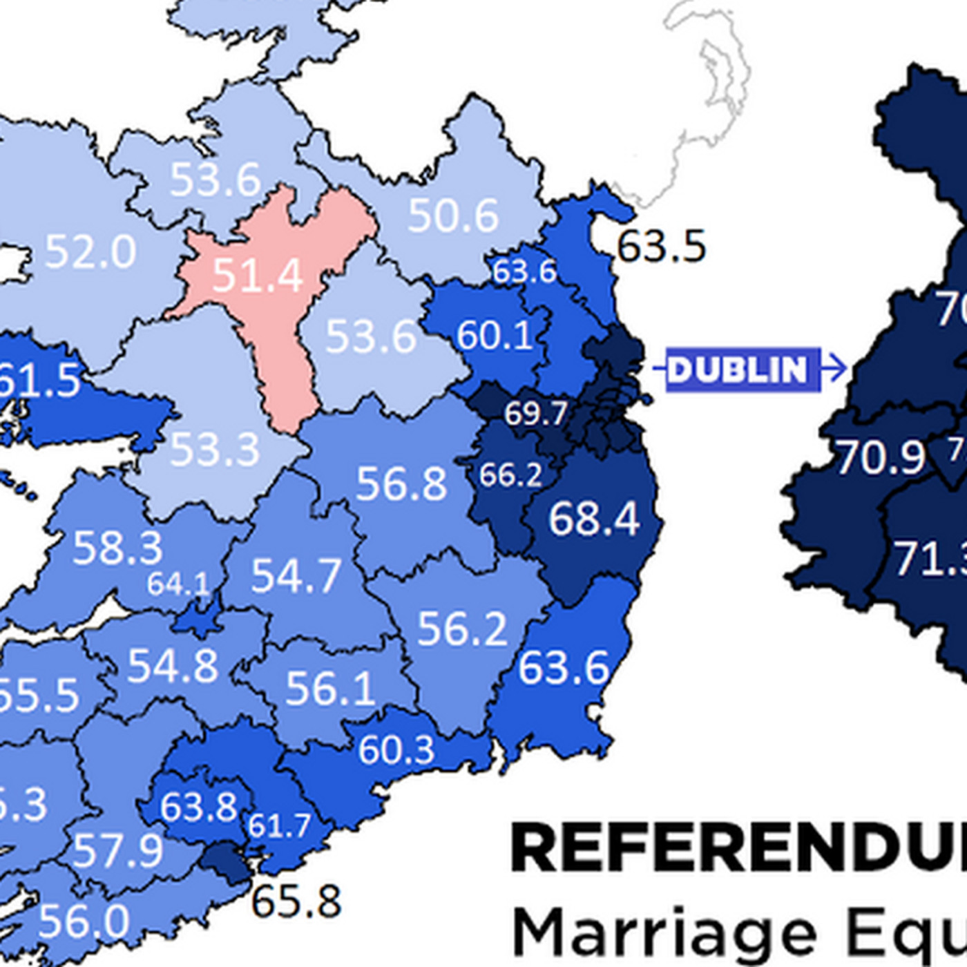 Map Of Dublin 3 Ireland.Support For Marriage Equality In Ireland Was Strikingly Broad Vox