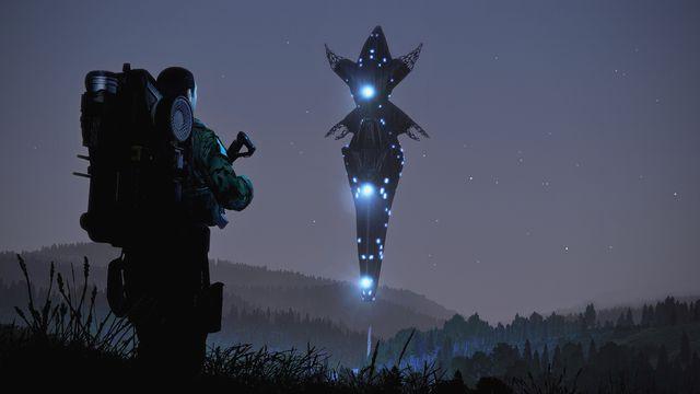 An alien spacecraft as shown in Arma 3: Contact.