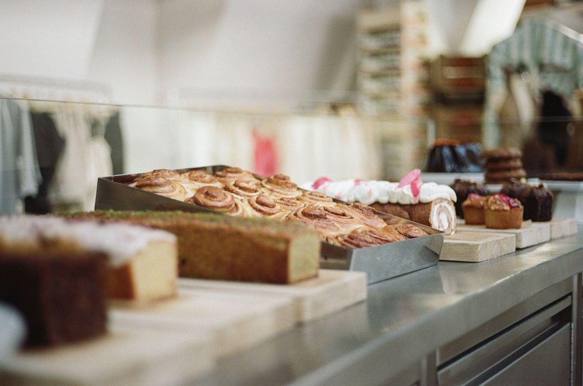 Rose Bakery cake counter at Dover Street Market