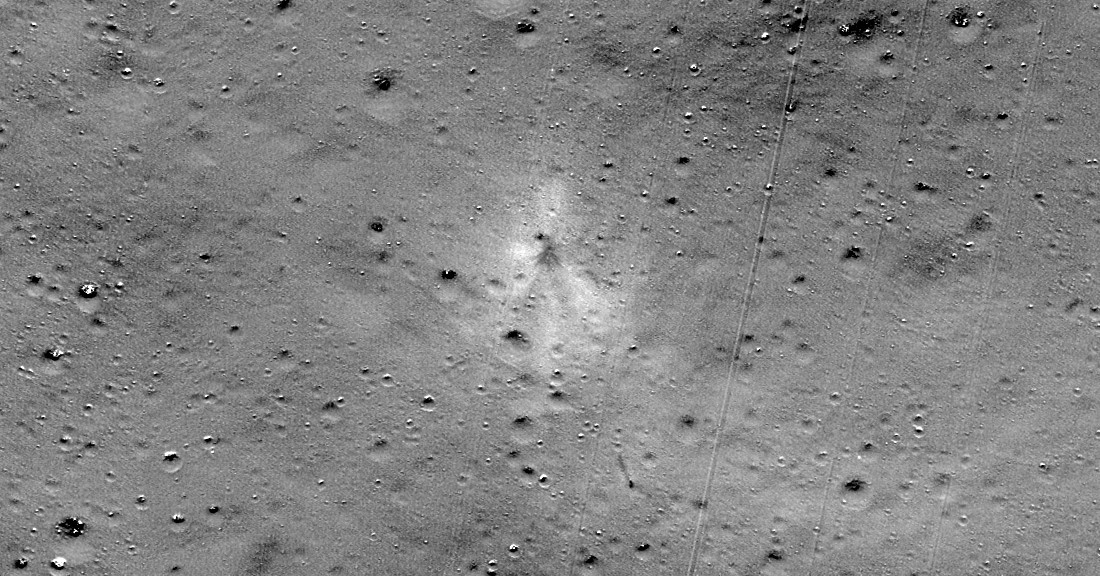 photo of NASA spacecraft finds crash site of Indian lunar lander image