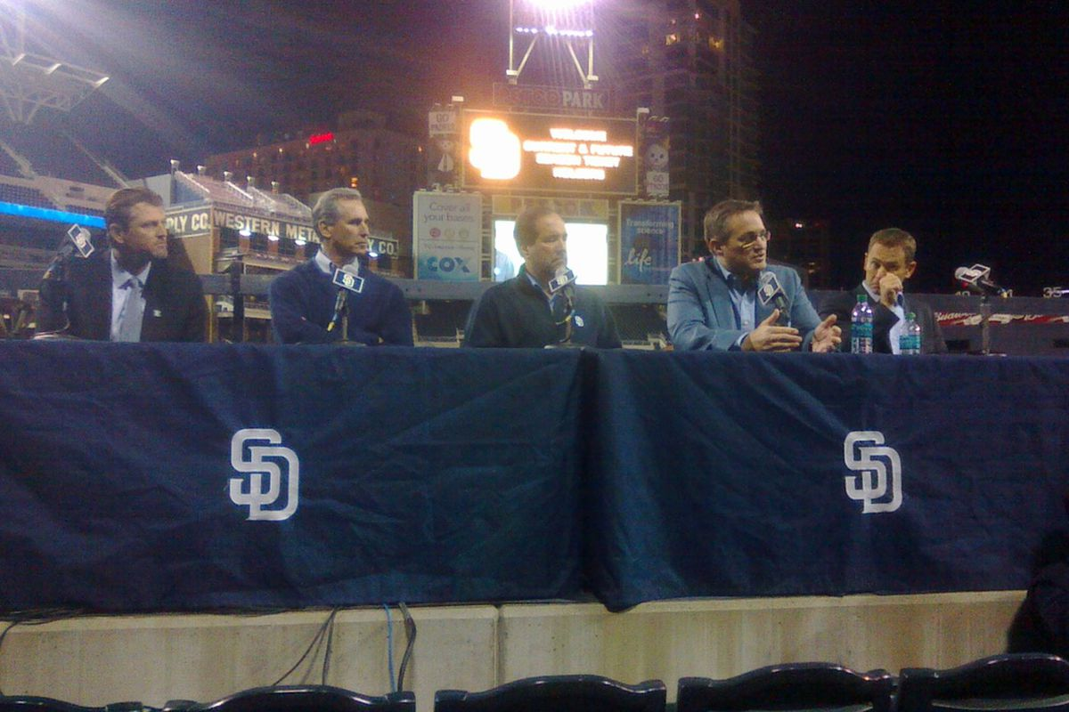 Padres Leadership during the Q&A portion of the Padres Town Hall