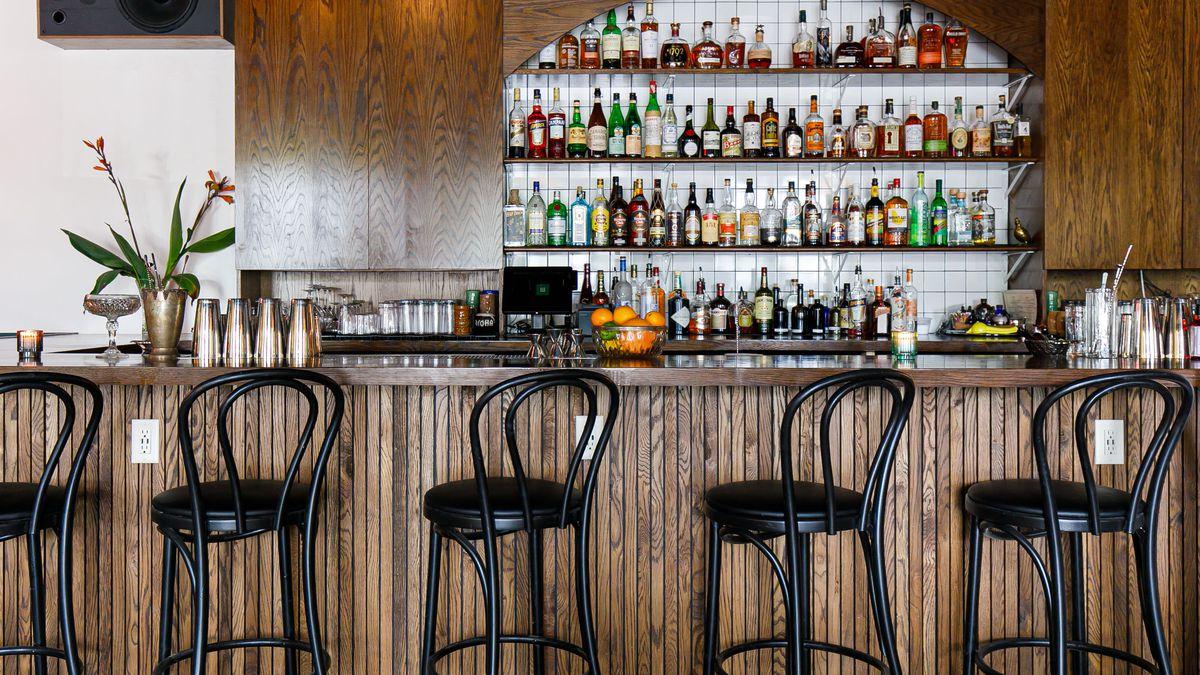 a sleek looking cocktail bar