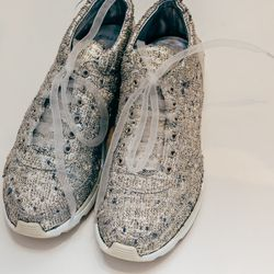 """Couture sneakers from Chanel's collection; Photo by Driely S. via <a href=""""http://racked.com/archives/2014/02/12/up-close-and-personal-with-chanels-couture-sneakers-kneepads.php"""">Racked</a>"""