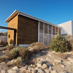 Called El Rio and sleeping 4, this home faces south to capture solar power but maintains coolness by being partially buried in the hillside.