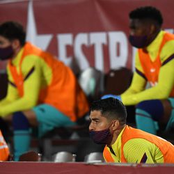 Luis Suarez started on the bench