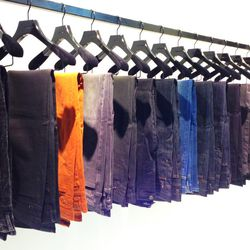 Men's denim in a range of hues and textures, $215.