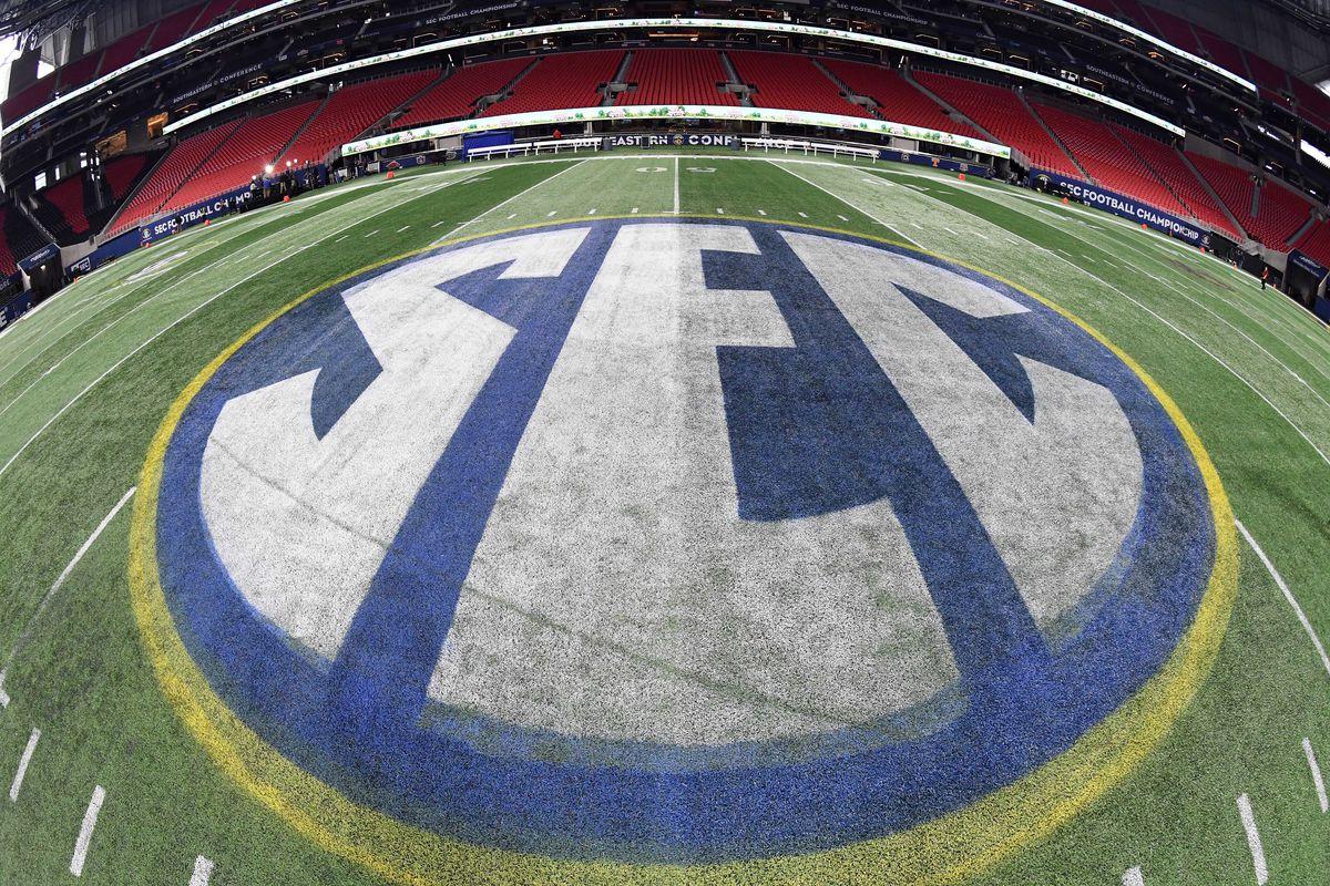 Dec 1, 2017; Atlanta, GA, USA; General view of the Mercedes-Benz Stadium where the Auburn Tigers will play the Georgia Bulldogs in the Southeastern Conference Championship. Mandatory Credit: John David Mercer-USA TODAY Sports