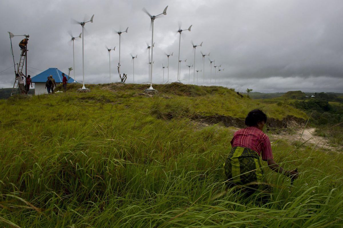 Wind turbines in Sumba, Indonesia