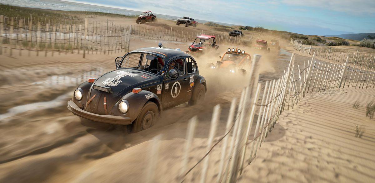 Forza Horizon 4 - buggies driving through sand