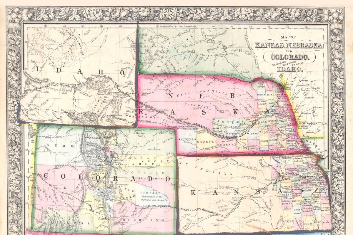 Mitchell Map of Colorado