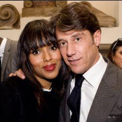 Francesco with Kerry Washington.
