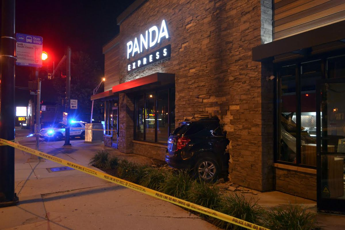 Vehicle crashes into Panda Express in West Lawn, driver