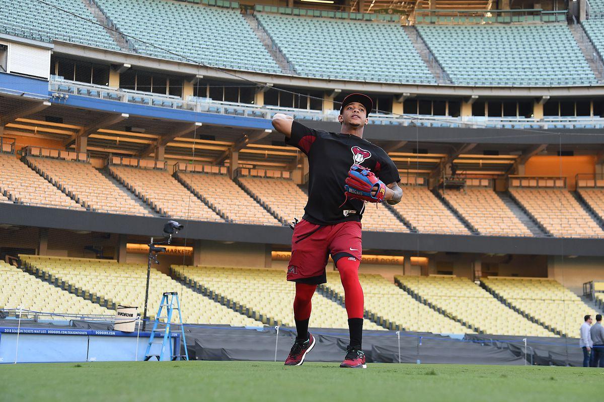 MLB: NLDS- Arizona Diamondbacks Workout