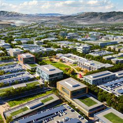 The Point of the Mountain State Land Authority has released new renderings of what the southern Salt Lake County development might look like, including this rendering of what is being called the Wasatch District.