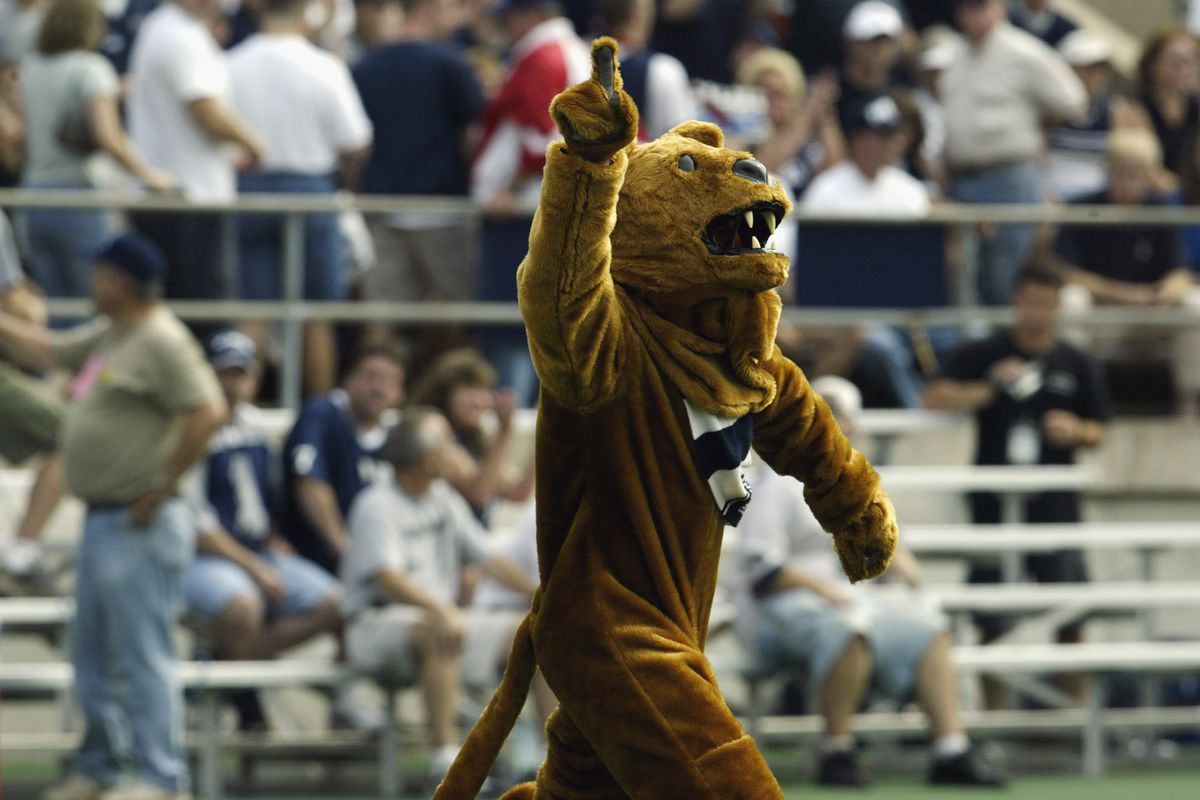 The Nittany Lion excites the crowd