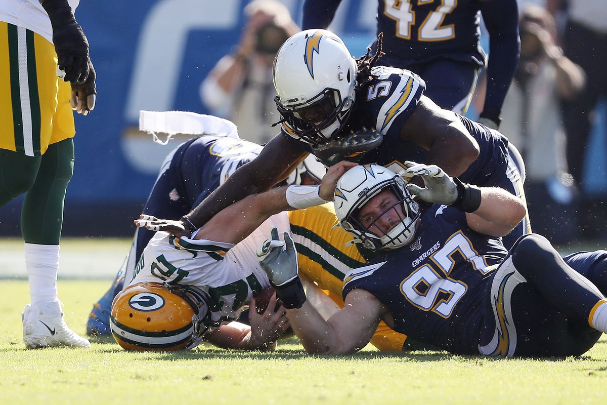 Chargers News B R Ranks Bolts Among Top Defenses Bolts From The Blue