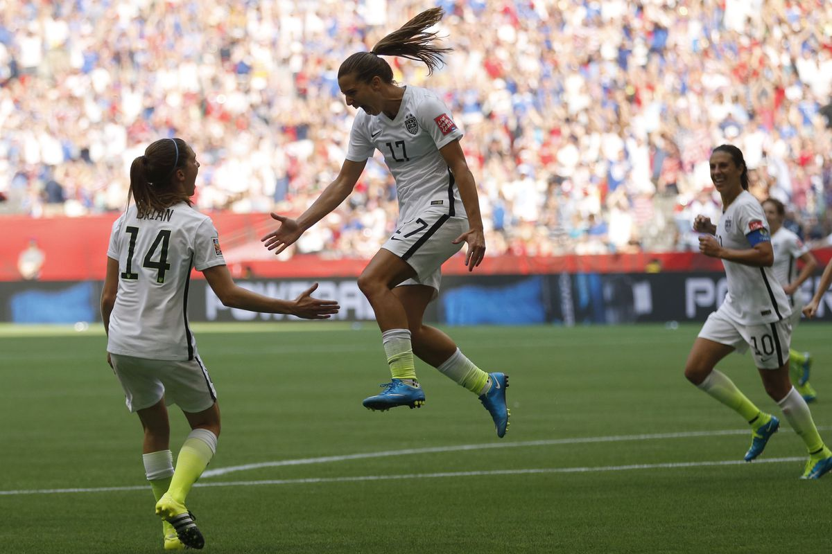 Tobin Heath scored the USA's final goal in their 5-2 win over Japan to clinch the country's third World Cup title