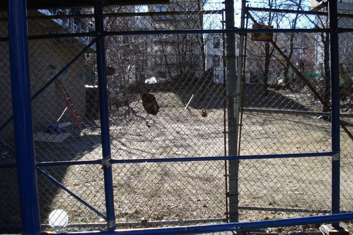 Vacant lot in the South Bronx