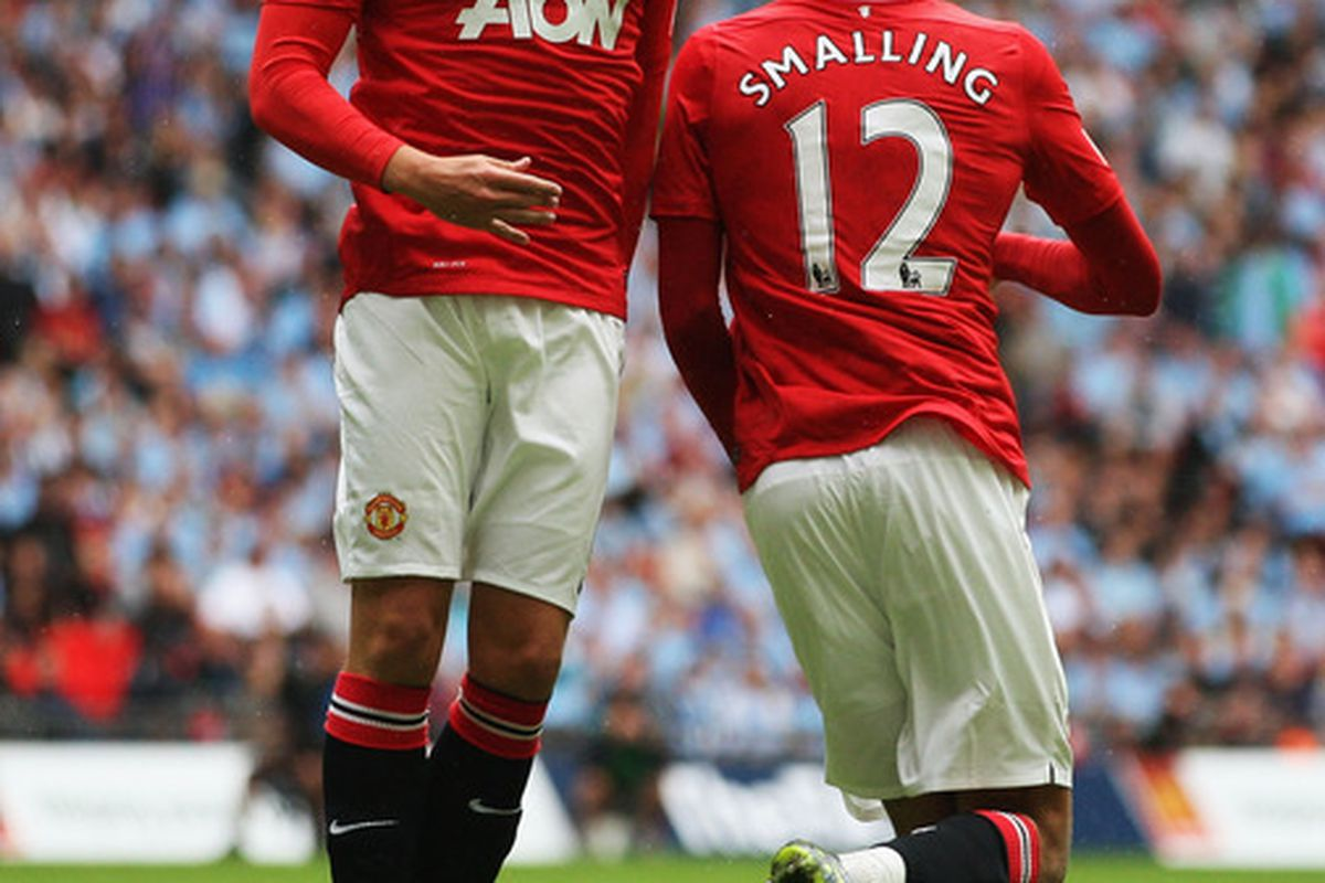 Youngsters Phil Jones (left) and Chris Smalling (right) helped Manchester United keep a clean sheet versus Tottenham Hotspur last week.