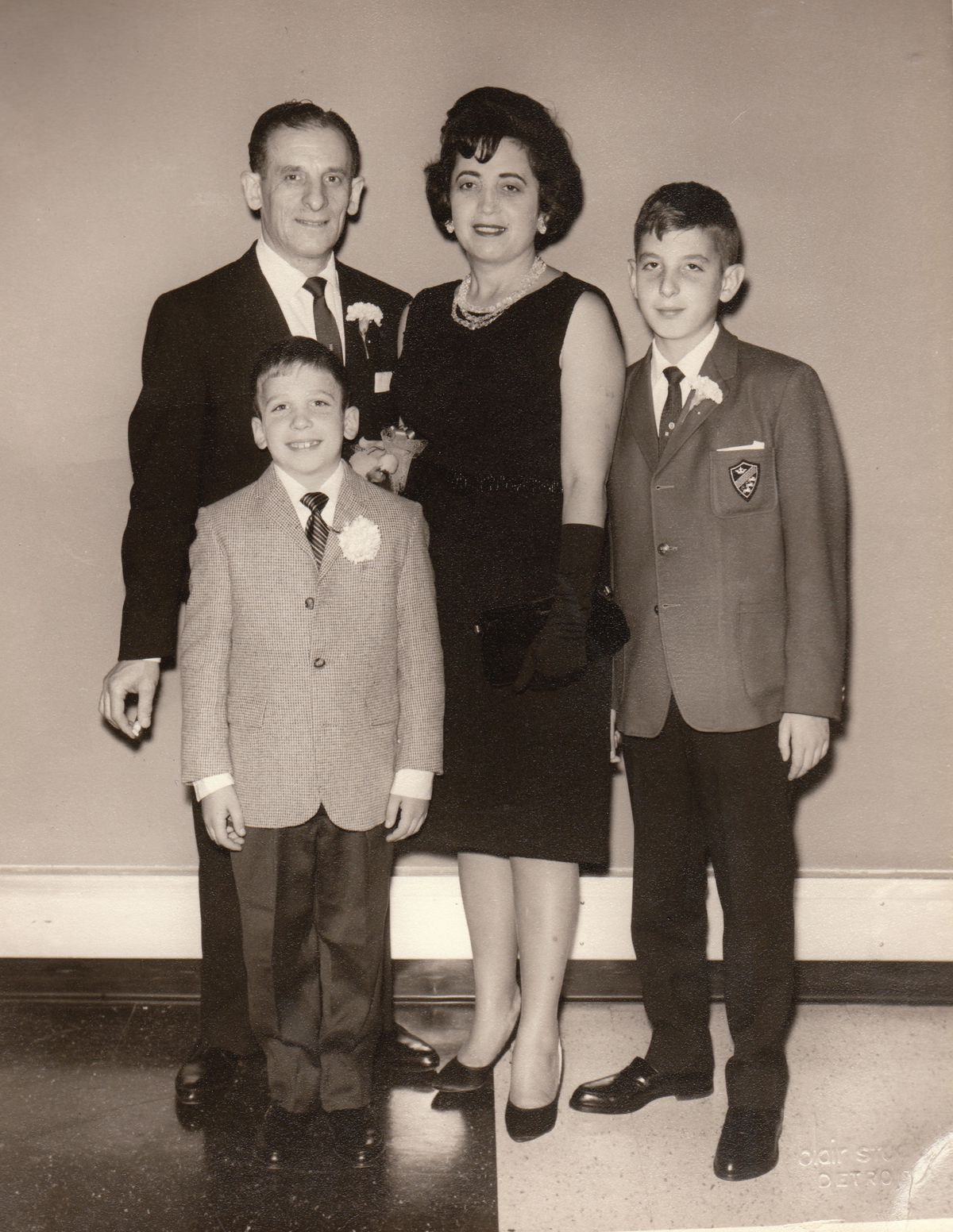 Leon Figa's family at a <em>bar mitzvah</em> in 1964. | Supplied photo