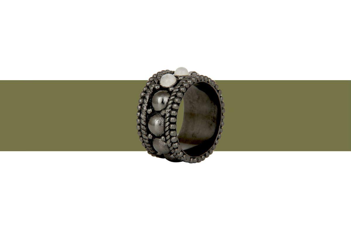 Aaryah Naima Gunmetal Ring