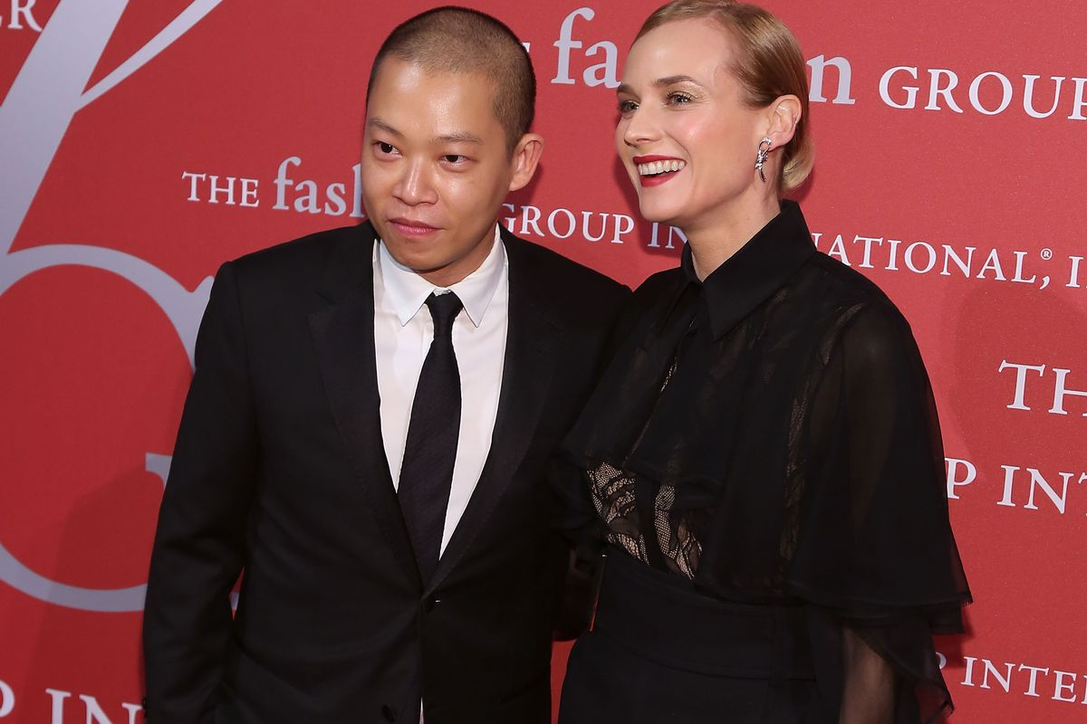 Jason Wu and his friend, the actress Diane Kruger.