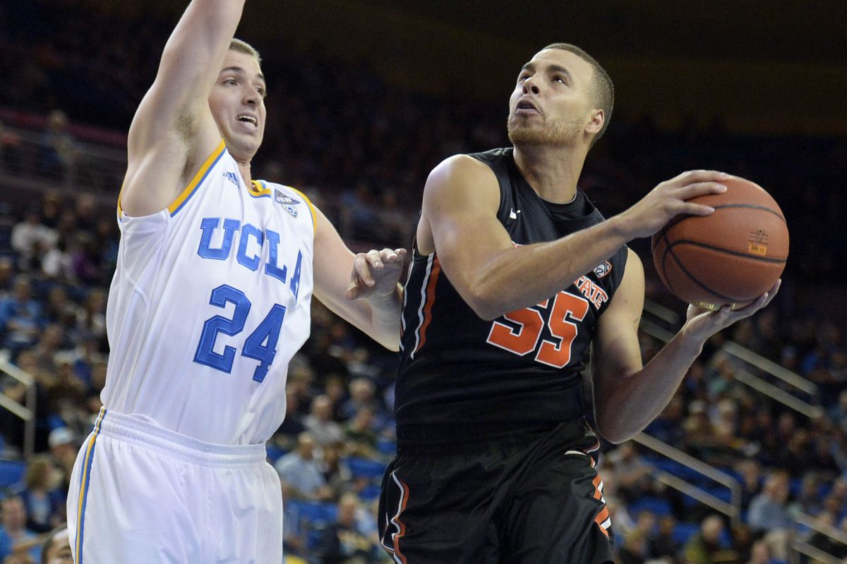 Roberto Nelson had a game high 22 points, but Oregon St. couldn't overcome UCLA down the stretch.