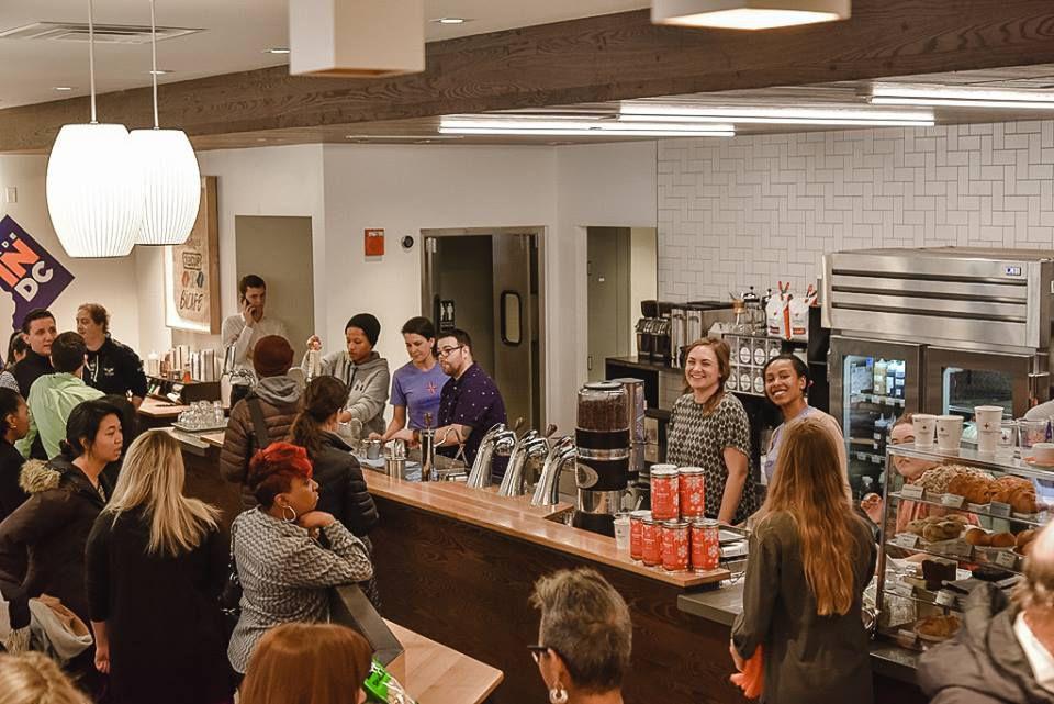 Compass Coffee DC crowd