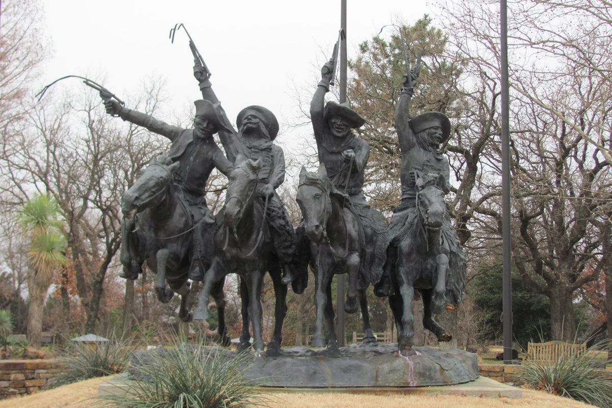 Oklahoma City, home of the cowboy museum and the Oklahoma City Barons