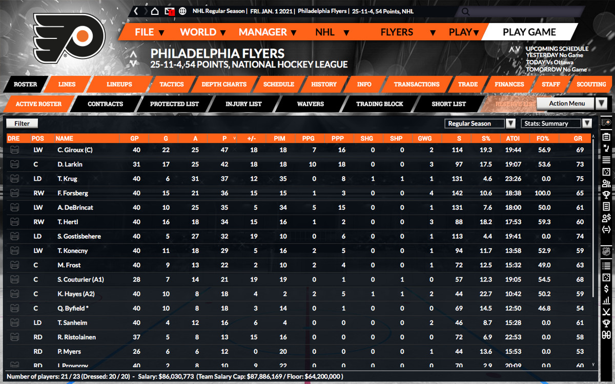 The Flyers In Franchise Hockey Manager Part 8 Higher And Highhhher Broad Street Hockey