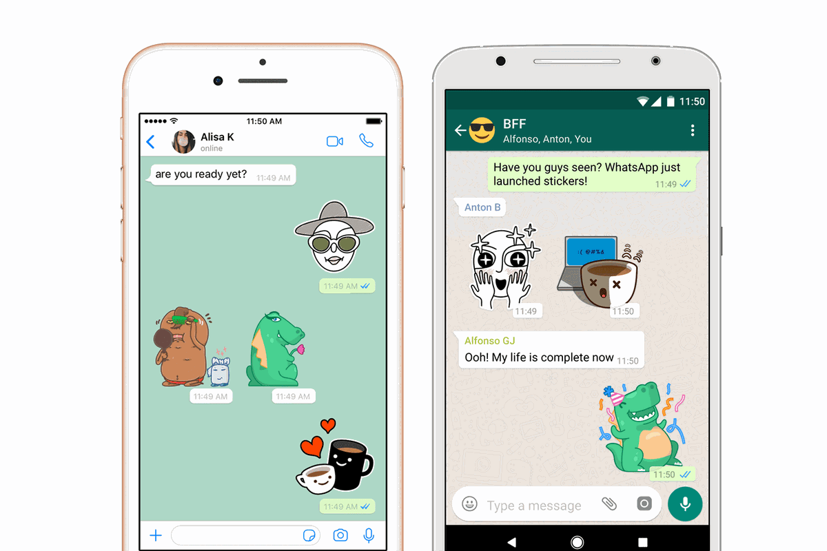 You can now send stickers to your friends in whatsapp