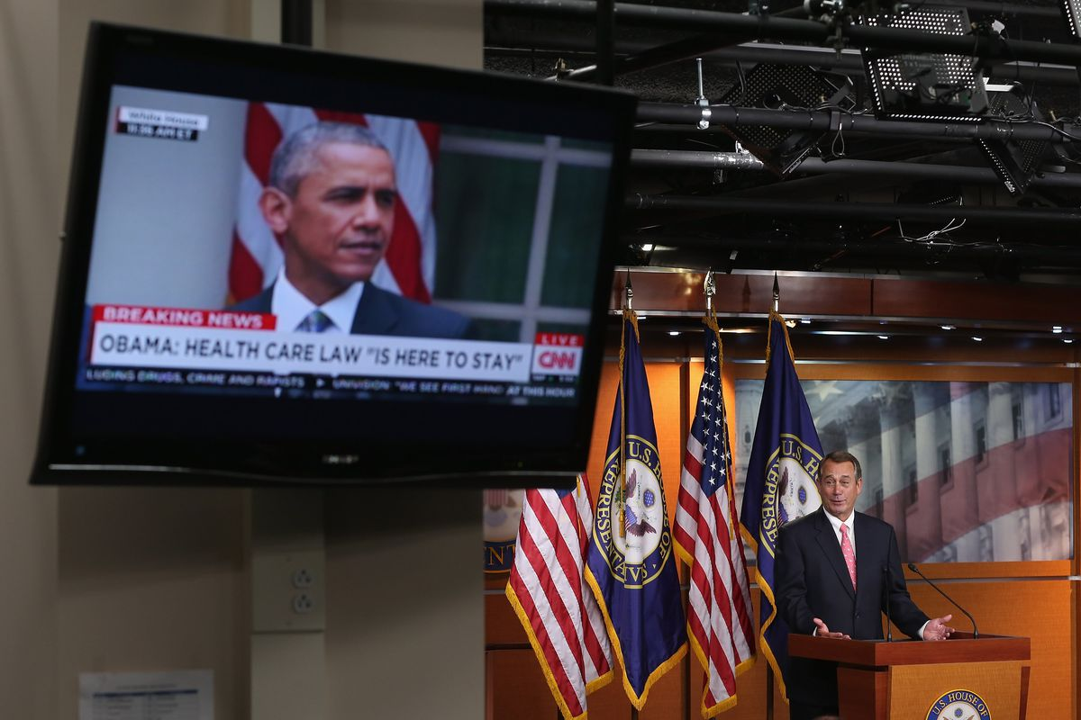 John Boehner Holds Weekly Press Briefing At Capitol