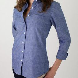 "Chambray woven, <a href=""http://www.marinelayer.com/shop/womens/women-s-chambray-woven.html"">$88</a>"