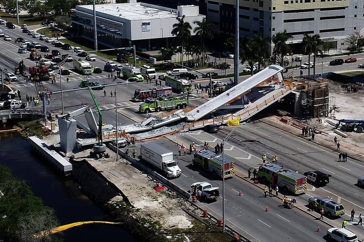 6 dead in pedestrian bridge collapse in Florida